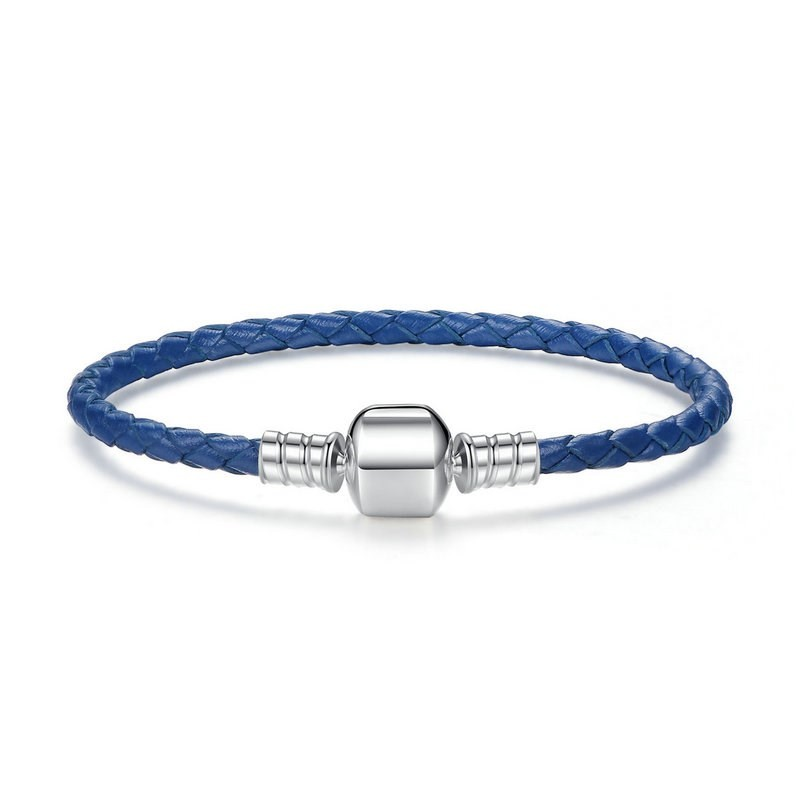 Image of   Kobolt blå læderarmbånd