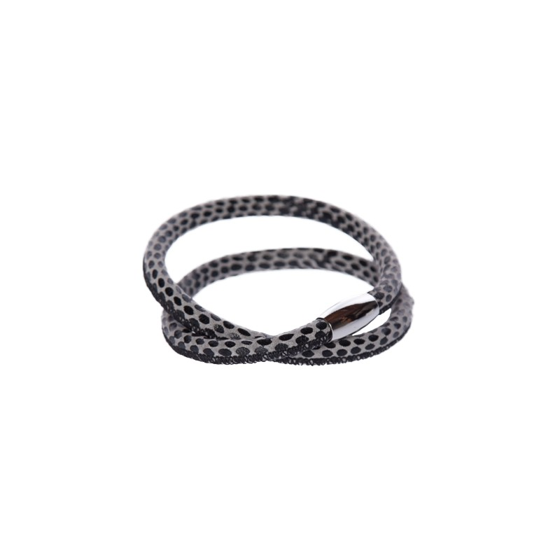 Image of   Snake black Læderarmbånd
