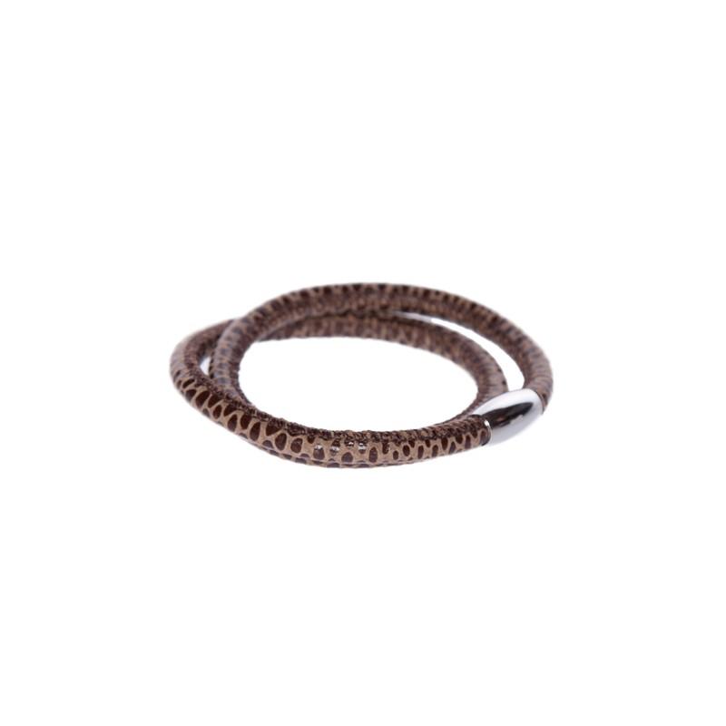 Image of   Snake coffee Læderarmbånd