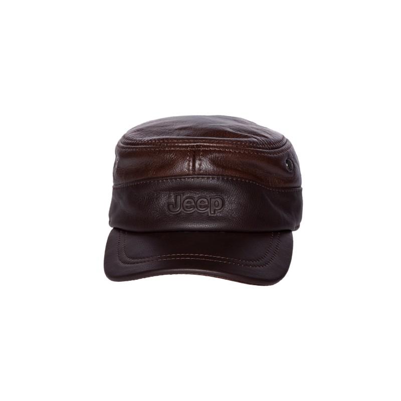 Image of   Brun/coffie militær caps med ørevarmer