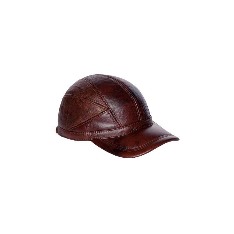 Image of   rød brun baseball caps med ørevarmer