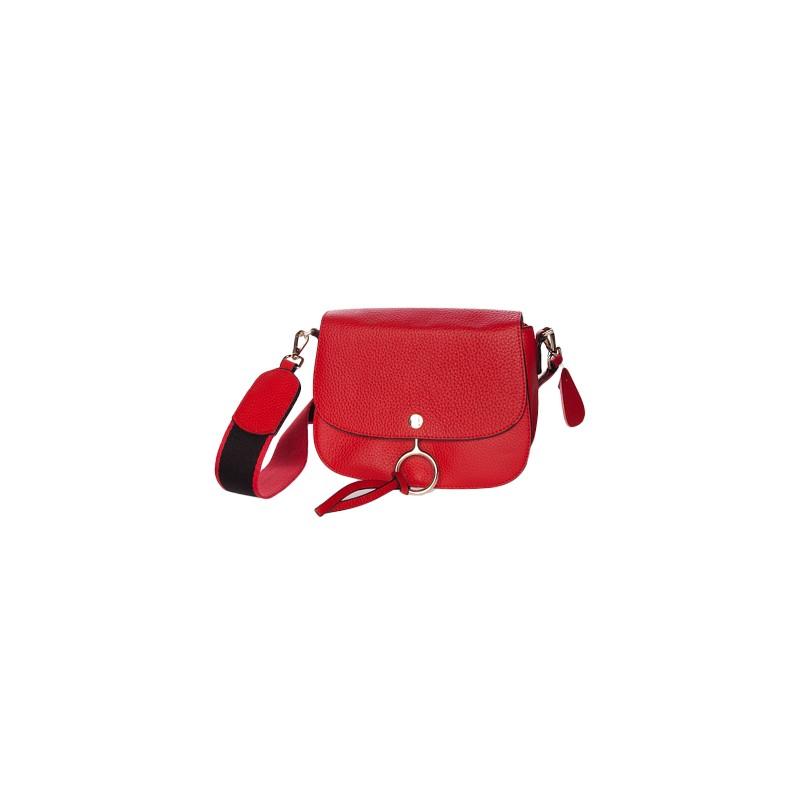 Image of   Rød dametaske i okselæder